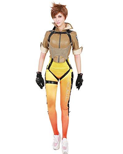 miccostumes Women's Tracer Lena Oxton Cosplay Costume (Women l) Orange