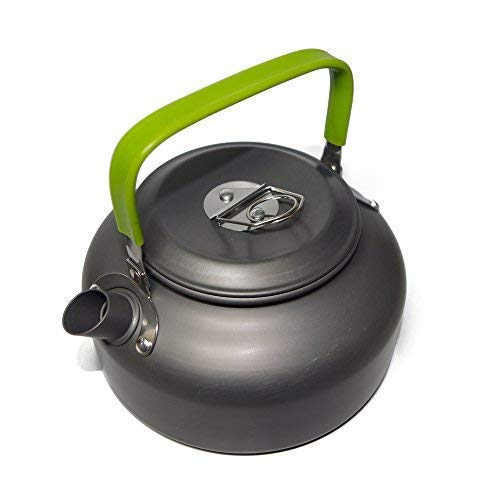 Ecent Aluminum 0.8L/1.2L Outdoor Camping Hiking Kettle Coffee Pot Portable Teapot Kettle, Compact and Lightweight with Silicon Handle