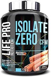 Life Pro Isolate Zero 2Kg | Suplemento Deportivo de Aislado de Proteína de Suero 87%, Facilita anabolismo, Mejora Rendimiento Físico y Recuperación, Sabor Vainilla con Canela