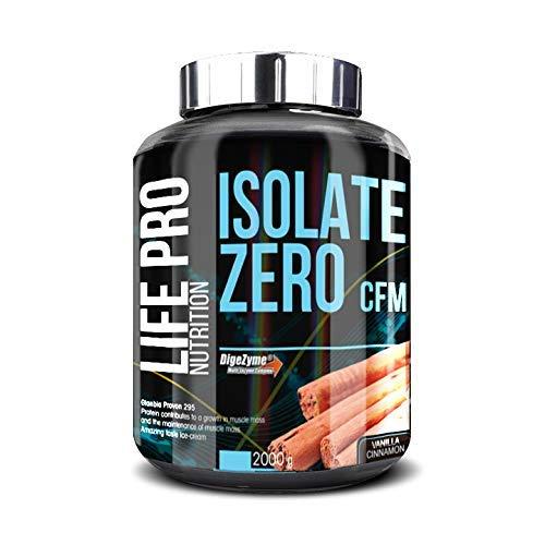 Life Pro Isolate Zero 2Kg | Suplemento Deportivo de Aislado de Proteína de Suero 87%, Facilita anabolismo, Mejora Rendimiento Físico y Recuperación, Sabor Vanilla Cinnamon