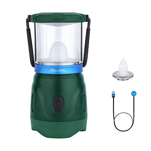OLIGHT Olantern Campinglampe 360 Lumen LED Zeltlicht USB Wiederaufladbare Camping Laterne Außenleuchten Camping Licht Stromausfälle Notlampe Wiederaufladbare Tragbare Campingbeleuchtung (Grün)