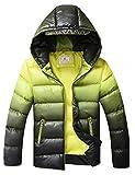 Echinodon Jungen Winterjacke mit Kapuze Wasserdicht Winndicht Kinder Verdickte Jacke Winter Herbst Steppjacke Gelb 150