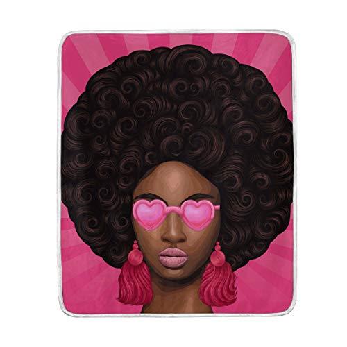 Mr.XZY Manta para niña africana para niños y niñas, color marrón, para gafas de sol, aretes, forro polar de franela, cálido, suave, 50 x 60 pulgadas, 2010026