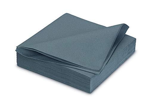 25 stoffähnliche Servietten 40x40cm in Premium Qualität ( grau 080 ) // saugstark perfekt für Hochzeit Party Geburtstag
