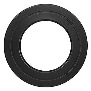Duratherm Rosette – Tubo de combustión (Ø 150 mm, diámetro exterior, 260 mm, acero, acabado mate, color negro