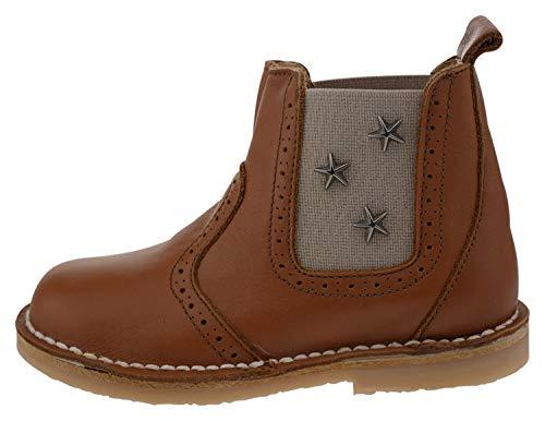 Kmins k904 Leder Chelsea Boot braun beige, Groesse:25.0