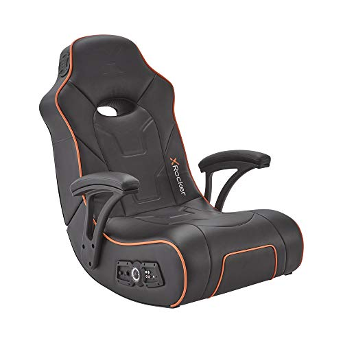 X-Rocker G-Force Sport Rocker Gaming Chair, 2.1 Audio with Subwoofer, Foldable Floor Seat – Black
