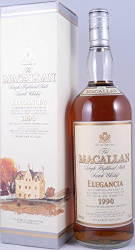 Macallan 1990 12 Years Elegancia Single Highland Malt Scotch Whisky 40,0% Vol. 1,0L - erste Ausgabe der Elegancia-Edition und seltene Abfüllung eines besonderen Macallan