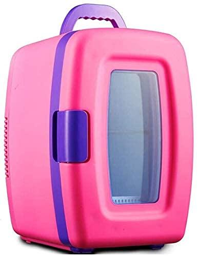 Mini refrigerador portátil de 10 litros y calentador de aire acondicionado AC/DC sistema termoeléctrico para coches, hogares, oficinas y dormitorios, color rosa Jialele