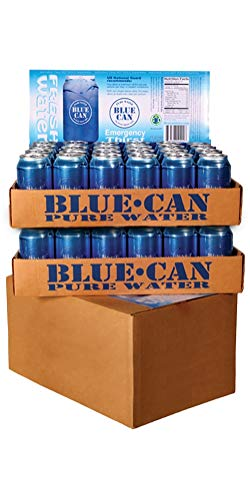 Blue Can Premium Emergency Drinking Water - 12oz 48 Pack