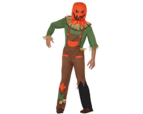 Atosa-26186 Disfraz Espantapájaros Zombie, color naranja, M-L (26186)