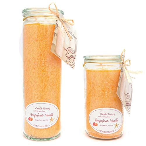 Candle Factory Kerzen-Set Grapefruit Vanille Big + Mini Jumbo Duftkerze