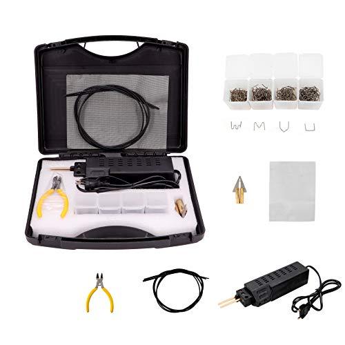 WXLAA Saldatrice per Plastica 50W Saldatore a Caldo per Paraurti Auto Strumento Riparazione di Saldature con Accessori 200pz Graffette