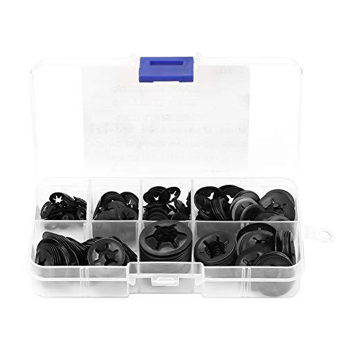 Arandelas de seguridad -260 piezas Arandelas de presión de acero al manganeso Juego de arandelas de seguridad de retención 3/4/5/6/8/8/10/12 mm