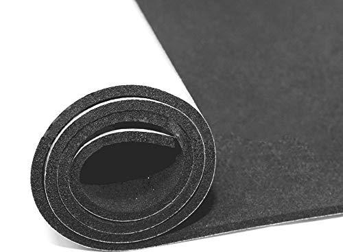 EPDM Zellkautschuk Dichtungsmatte einseitig, selbstklebend Moosgummi - Länge 0,5m / 1m / 2m - 0,5x1m / 1x1m / 2x1m - Stärke in 2/3/5 mm (1mx0,5mx5mm) Premium-Qualität mit Geld-zurück-Garantie