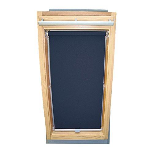 Easy-Shadow Dachfenster Abdunkelungsrollo Basis Rollo für Typ Roto WDF R4 / R7 / R45 / R48 / R75 / R78 / R4_K/H R7_K/H Größe 9/11 - in der Farbe dunkelblau