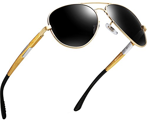 ATTCL Men's Driving Polarized Sunglasses Al-Mg Metal Frame Ultra Light Sun glasses
