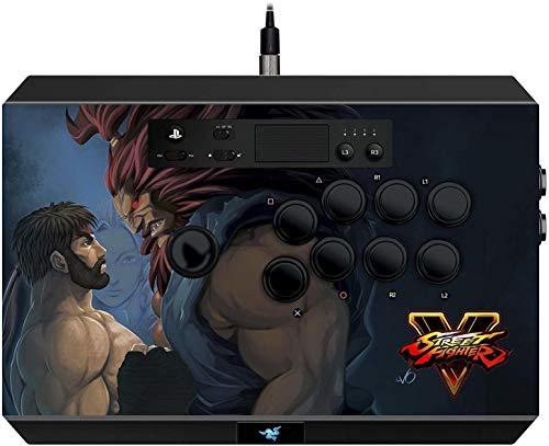 Razer Street Fighter V Panthera Arcade Stick for PS4 - vollständig Modding-fähig - Sanwa Joystick und Tasten - Internes Staufach - Turnier Arcade Stick für PS4 und PC