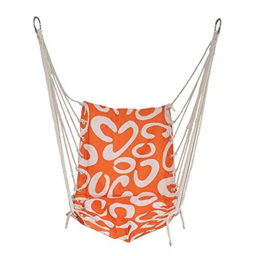 Ailin home- Chaise de jardin suspendue au hamac, siège pivotant pour les espaces intérieurs ou extérieurs, chaise de corde à dortoir étudiant universitaire, charge: 150 kg (ne contient pas de cadre en fer)