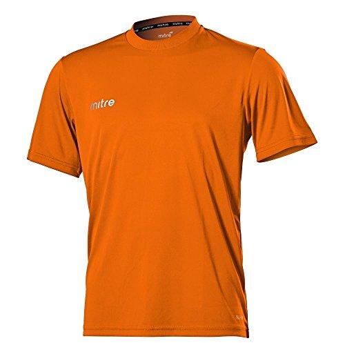 Mitre - Fußball-Trainingstrikots für Jungen in Orangerot, Größe Medium/28-30 Inch