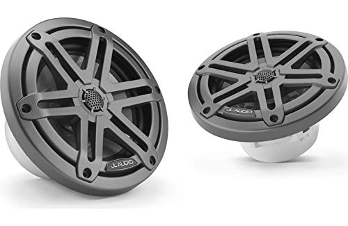 JL Audio M3-650X-S-Gm 6.5' Marine Coaxial Speakers (Gunmetal, Sport Grille)