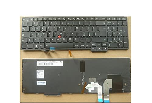 HuiHan Reemplazo para Lenovo ThinkPad S5 Yoga 15 portátil retroiluminado IT versión italiana teclado