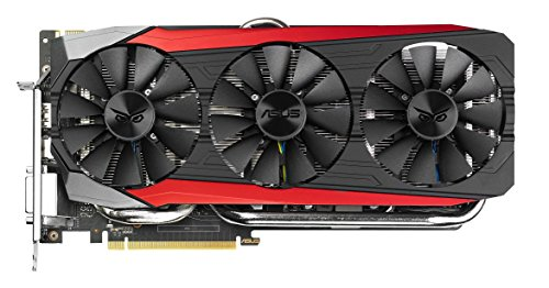 Asus Strix-GTX980TI-DC3-6GD5-GAMING Nvidia GeForce Gaming Grafikkarte (PCIe 3.0 x16, 6GB GDDR5 Speicher, HDMI, DVI, 3x DisplayPort)