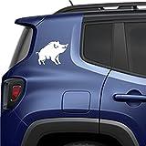 Sticker Kit de 2 adhesivos de goma para coche, moto, todoterreno, autocaravana, cristales, espejos. Calcomanía los vinilos tallados (Cm 14,5 x 20 cm), color blanco