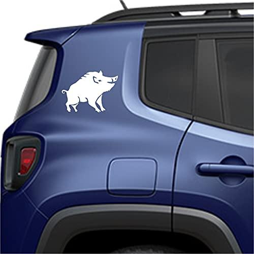 Sticker Kit de 2 adhesivos de jabalí de caza para coche, moto,...