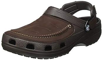 crocs mens Men s Yukon Vista | Slip on Shoes for Men With Adjustable Fit Clog Espresso 11 US