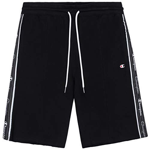 Champion Herren Seasonal American Tape Shorts Cargos, Black, L