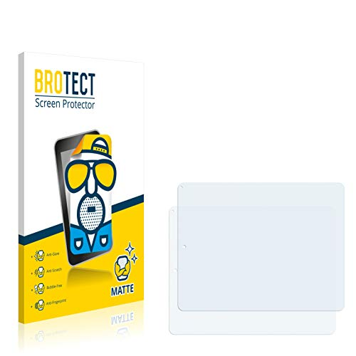 BROTECT 2X Entspiegelungs-Schutzfolie kompatibel mit Pearl Touchlet X10.Quad Bildschirmschutz-Folie Matt, Anti-Reflex, Anti-Fingerprint