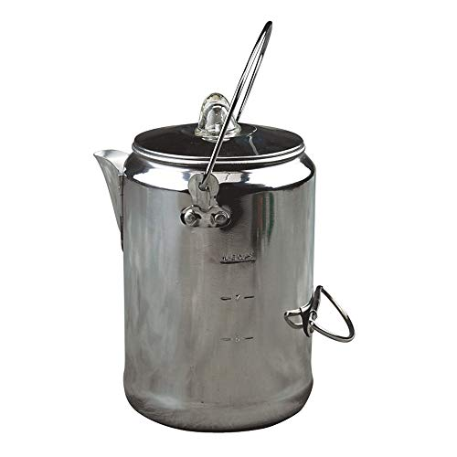 Coleman 9 Cup Coffee Stainless Steel Camping Style Percolator
