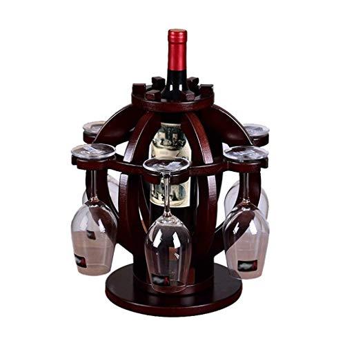 NXYJD Caja de Almacenamiento Hogar Vino Estante Material de Madera Maciza Vino Creativo Estante Flor Cesta Forma
