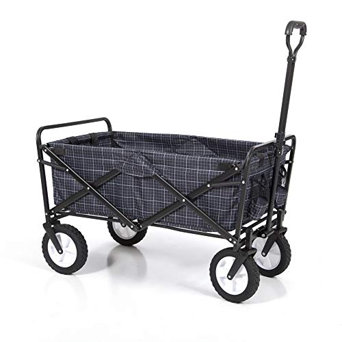 Mac Sports Collapsible Folding Outdoor Utility Wagon, Gingham