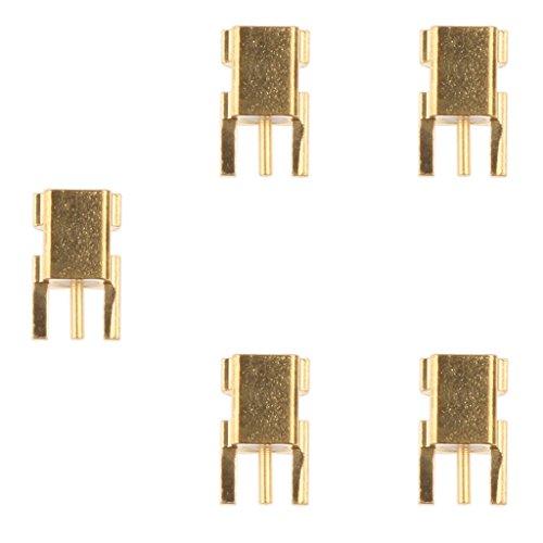 MagiDeal 5 Stücke Vergoldeten MMCX Buchse für Shure SE215 / SE315 / SE425 / SE535 Kopfhörer