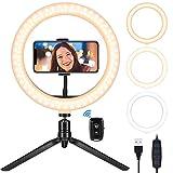 """Teaisiy Luce ad Anello LED, 10.2"""" Ring Light con Treppiede e Telecomando Wireless per YouTube, Tik Tok, Trucco, Fotografia, Selfie, Lampada Anulare con 3 Modalità Colore e 10 Luminosità Dimmerabile"""