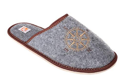 Bosaco - Zapatillas de andar por casa para hombre, color Gris, talla 39 1/3 EU