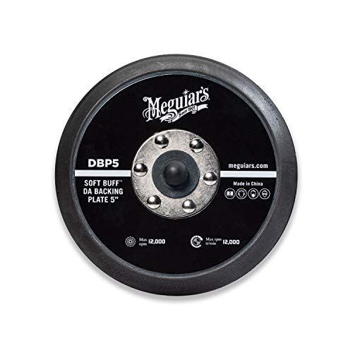 MEGUIAR'S 5' Soft Buff DA Backing Plate – Use with MT300 Dual Action Variable Speed Polisher...