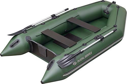 kolibri KM-300 Motorboot - Schlauchboot Ruderboot Angelboot Beiboot - inkl. Heckspiegel, Transporttasche, Fuß-Luftpumpe & Reparatur-Set