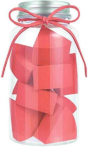 Detazhi Super Soft Petit Ventilateur en Forme de Bonbons Puff Conserve Clean No Jam Fond de Teint Poudre œufs 12 Bouteilles 4.5cm / Blanc Rose (Color : Red, Size : 4.5cm)