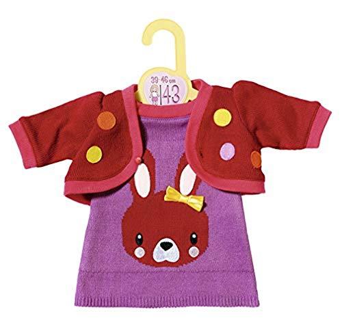 Zapf Creation 870532 Dolly Moda Strickkleid mit Jacke, Puppenkleidung...