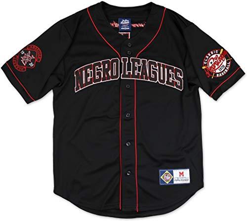 Big Boy Negro Leagues Legacy S8 Mens Baseball Jersey [Black - 4XL]