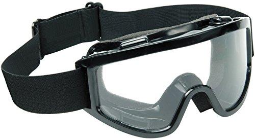 Raider Adult MX Off-Road Snowmobile, Snowboard, Ski Goggles (Black Frame/Clear Lens)