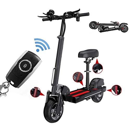 FUJGYLGL Alta Velocidad Scooter eléctrico Plegable for Adultos, 36V /18.2Ah batería, 400W de Motor sin escobillas, 43km / h, 35 Millas de Alcance