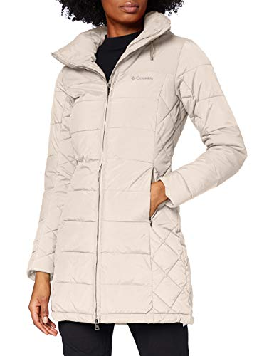 Columbia Femme Veste d'Hiver Mi-longue, Cold Fighter Mid Jacket, Nylon, Beige (Light Cloud), Taille M, 1748221