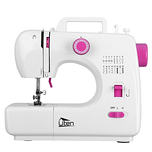 Kranich Portable Sewing Machine 2 Speed 16 Stitches Double Thread Needle Mini Sewing Machine