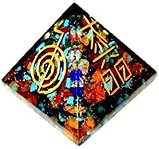 Jet Usui Engraved Orgone Chakra Pyramid Free Booklet Jet International Image is JUST A Reference.