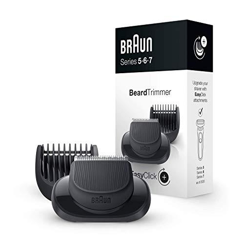 Braun EasyClick Barttrimmer-Aufsatz für Series 5, 6 und 7 Elektrorasierer (Rasierer Modelle ab 2020)