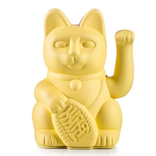 Donkey Products - Lucky Cat Yellow - gelbe Winkekatze | Japanische Deko-Katze in stylischem matt-Farbton 15cm groß